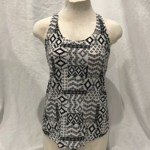 Black and White Patterned Tank